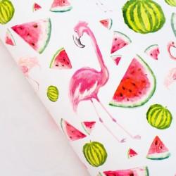"""Бумага упаковочная глянцевая """"Розовый фламинго"""", 70 х 100 см 2504957"""