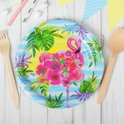 "Тарелка бумажная ""Фламинго "" (18 см)"