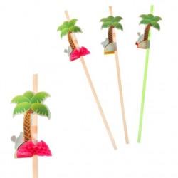 "Трубочка для коктейля ""Пальма"" ( набор 12 шт), цвета МИКС 305852"