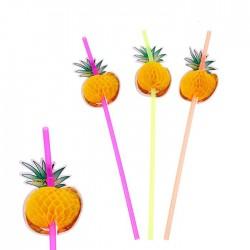 Набор трубочек для коктейля ананас 24см 12шт