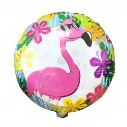 Шар (18''/46 см) Круг, Фламинго, 1 шт.