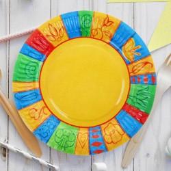 Набор тарелок Орнамент с ламинацией 18см 10см