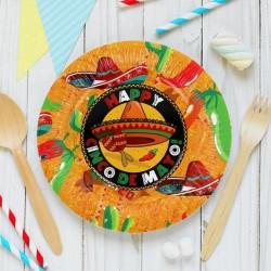 "Тарелка с ламинацией ""Мексика"", 18 см (набор 6шт) 1134991"