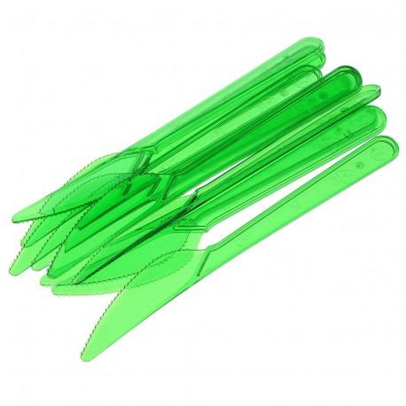 Нож 180мм, зелён. (салат), кристалл, ПС 10 шт