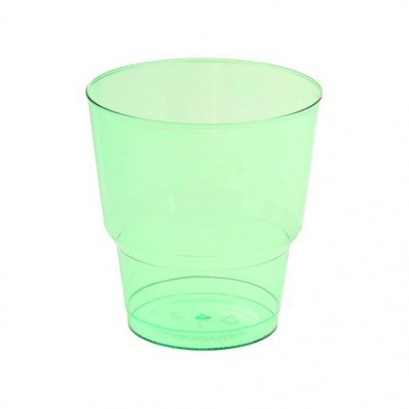 Стакан д/хол., 0.20л, кристалл, ПС, зеленый 8шт