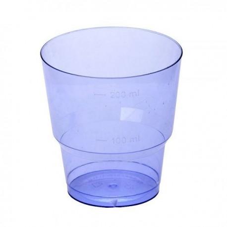 Стакан д/хол., 0.20л, кристалл, ПС, синий 8 шт