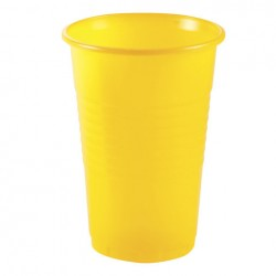 Стакан 0,2л, желт 100шт уп