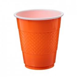 "S Стаканы пластиковые 210 мл ""Делюкс"" Оранжевые / набор 10 шт. / (Колумбия)"