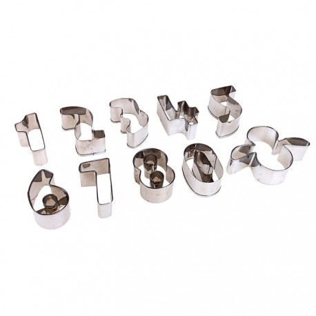 Форма д/выпечки цифры (набор 10 шт) 3,5*5 см