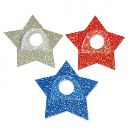 Наклейка-держатель для шара Звезда в ассортименте