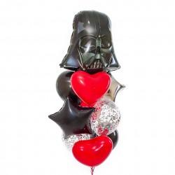 """Фонтан из шаров """"Любовь к Звездным войнам"""""""