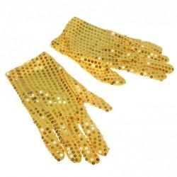 Перчатки карнавальные золотые 2шт 23см