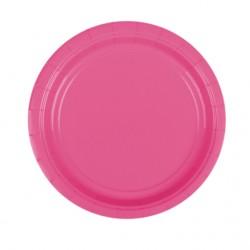 Набор тарелок Bright Pink 17см 8шт