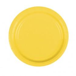 Набор тарелок Yellow Sunshine 17см 8шт