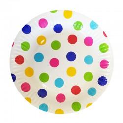 Набор тарелок Горошек мульти 17см 6шт