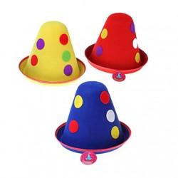 Карнавальная шляпа Клоун цветной горох 23х23см