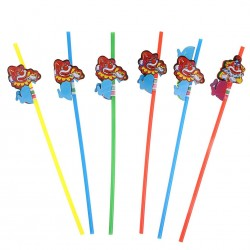 Трубочка для коктейля клоун (набор 12шт)