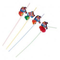 Трубочка для коктейля клоун набор (набор 12 шт)