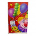 Скатерть полиэтиленовая Клоун с шарами 140х180см