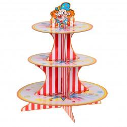 """Подставка для пирожных трехъярусная """"Клоун"""""""