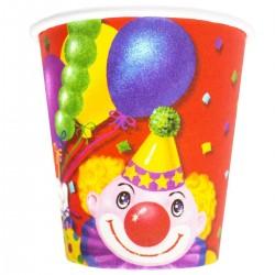Стакан бум Клоун с шарами 190мл 6шт/G (4607129632578)