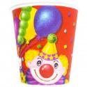 Набор стаканов Клоун с шарами 6шт