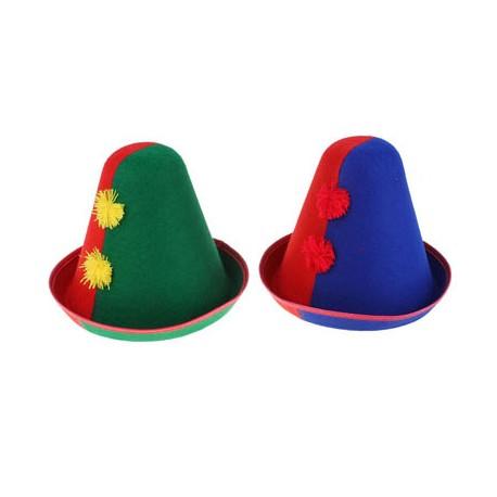 Карнавал шляпка клоун 2 помпона