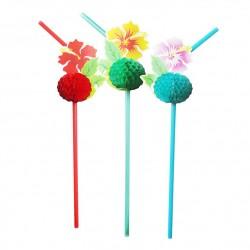 Набор трубочек Цветы Гавайи 8шт