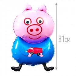 И 32 Поросенок с машинкой / Pig blue / 1 шт / (Испания)