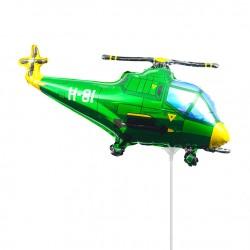 Вертолет зеленый 35см