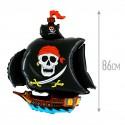 Шар Пиратский корабль черный 86см