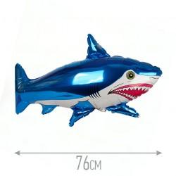 Шар Акула синий 76см