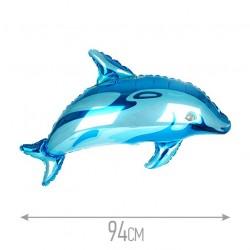 Шар Дельфинчик синий 94см