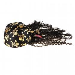 бандана с волосами череп золото 324246