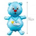 Шарк Медвежонок мальчик синий 94см