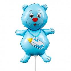 Медвежонок мальчик синий 35см