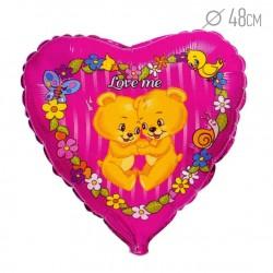 И 18 Сердце Медвежата Люби меня / Love me / 1 шт / (Испания)