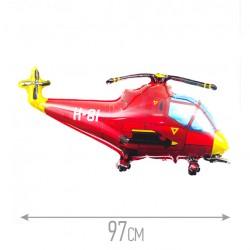 Шар Вертолет красный 97см