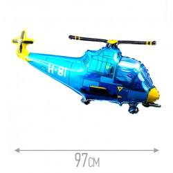Шар Вертолет синий 97см