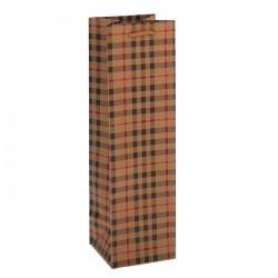 """Пакет крафт """"Клетка"""" 36 х 11 х 10 см 1931291"""