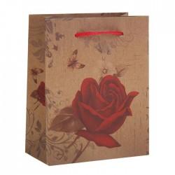 "Пакет крафт ""Роза"", 11,5 х 14,5 х 6 см 1258383"