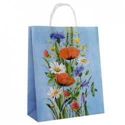 """Пакет крафт """"Луговые цветы"""" 25 х 11 х 32 см 3370807"""