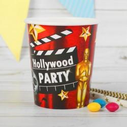 """Стакан бумажный """"Голивудская вечеринка"""" 250 мл. (набор 6 шт) 2370422"""