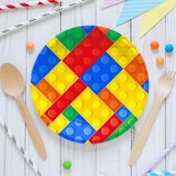 Набор тарелок Яркие детали 18см 6 шт