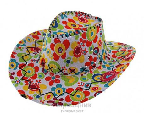 Шляпа Ковбой разноцветная 40x35см