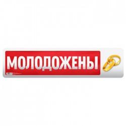 """Наклейка на номер """"Молодожены"""" 3396315"""