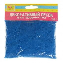 """Песок декоративный """"Синий"""" 250 гр"""