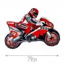 Шар Мотоцикл красный 78см