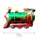 Шар Поезд зеленый 78см