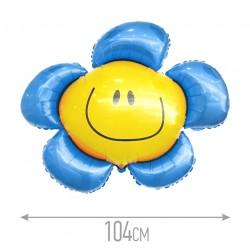 И 41 Цветочек (солнечная улыбка) синий / Flower / 1 шт / (Испания)